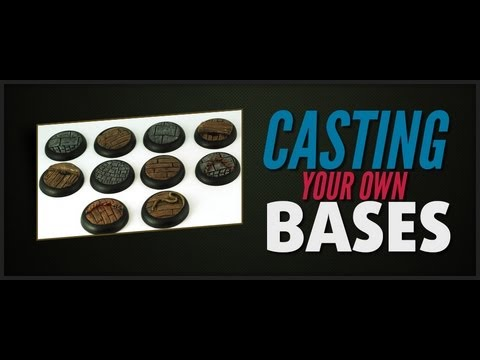 How to make a rubber mould and Cast resin Bases for miniatures