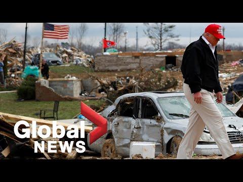 Nashville tornado: President Trump tours damaged areas after tornadoes kill 25