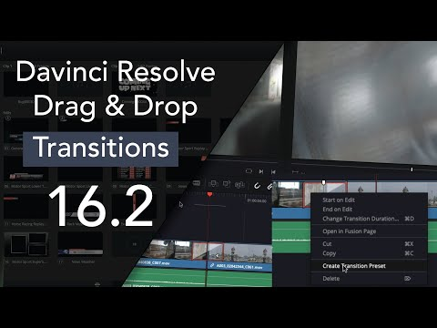 What's New In Davinci Resolve 16.2 | Transition | Drag & Drop | Made Easy | 104