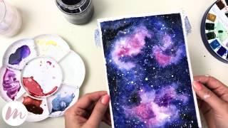 Galaxie malen | MODERNES AQUARELL