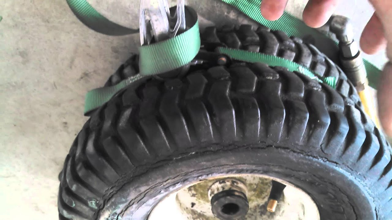 How To Get Tubeless Lawn Tractor Tire To Seal On Rim Youtube