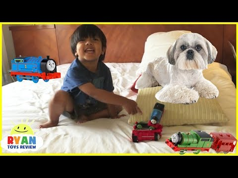 Ryan Plays with Thomas & Friends Toy Trains for Kids