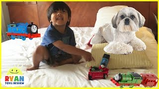 Ryan Plays with Thomas & Friends Toy Trains for Kids thumbnail