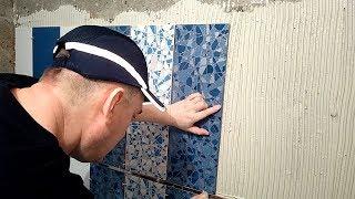 Укладка плитки на стены в ванной за 1 день своими руками. Отделка ванной комнаты дорогой плиткой(, 2018-04-22T01:25:44.000Z)