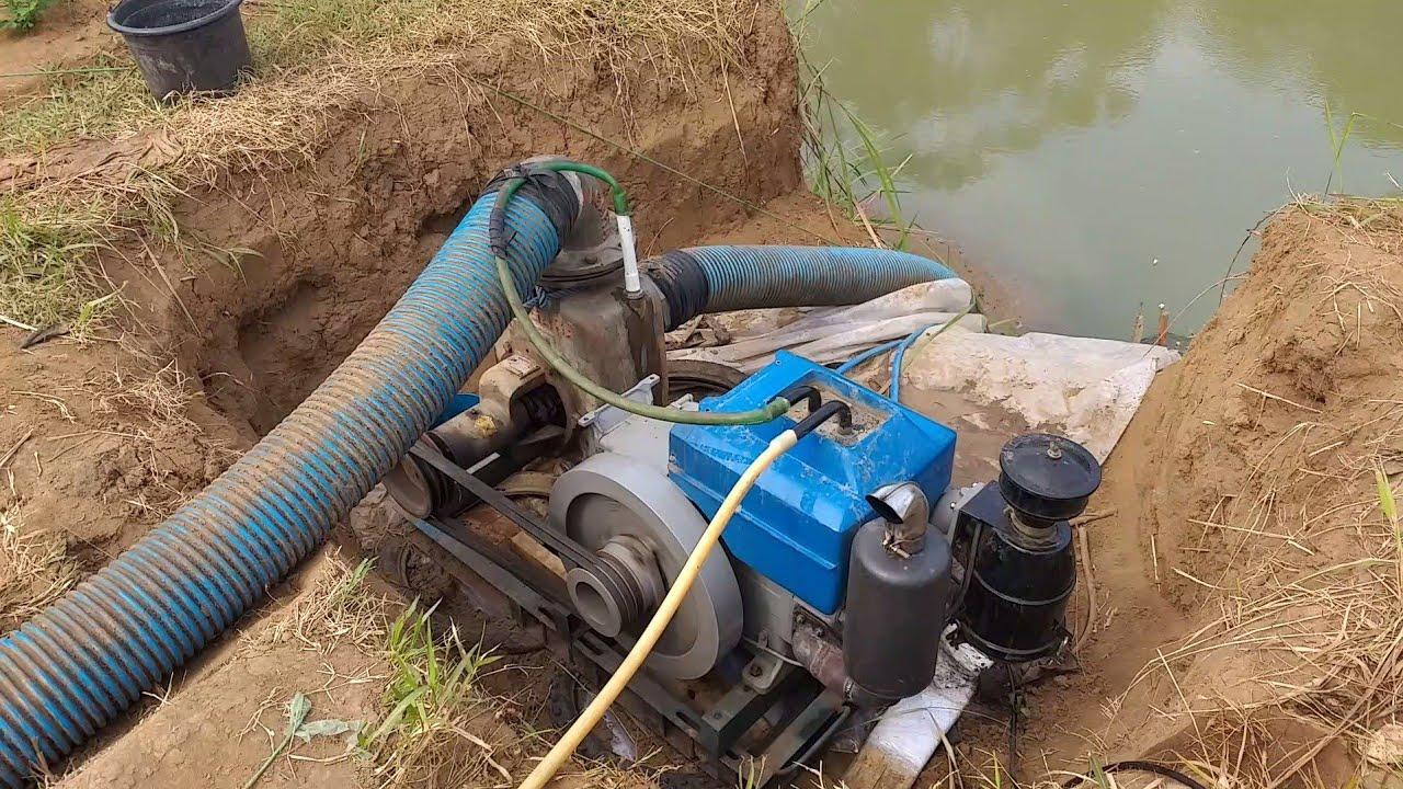 Pompa air sawah Niagara 6 Inch mesin diesel penggerak ...