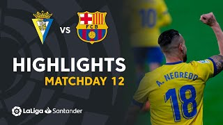 Highlights Cádiz CF vs FC Barcelona (2-1)