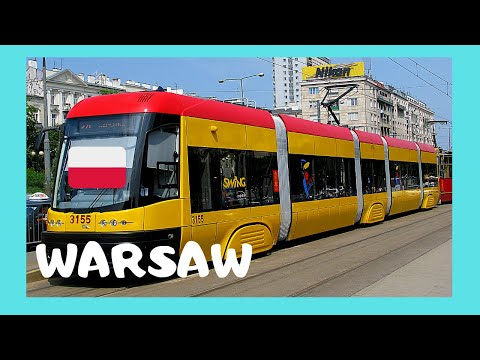 WARSAW, riding the very modern TRAM system (POLAND)