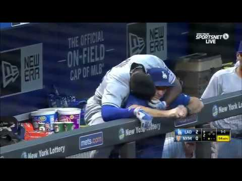 Download Youtube: Yasiel Puig solo homer, then kisses hitting coach
