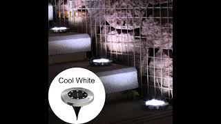Lampki Solarne Najazdowe Gruntowe 8LED