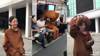 Tik Tok Trung Quốc gấu lầy phát tờ rơi hài hước