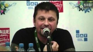 """Группа """"Пилот"""" Илья Чёрт прессконференция Нашествие 2011"""