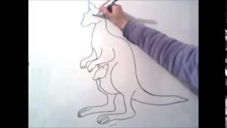 kак нарисовать кенгуру