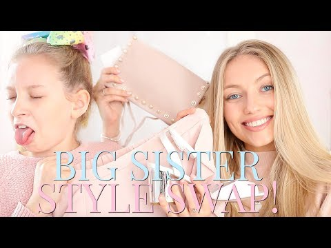 SISTER STYLE SWAP! MY BIG SISTER DRESSES ME AS HER! | Coco's World