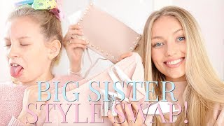 SISTER STYLE SWAP! MY BIG SISTER DRESSES ME AS HER! | Coco