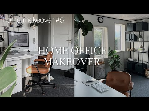 Easy & affordable home office makeover | Home makeover #5