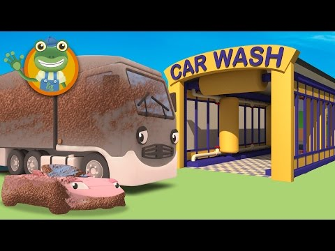 Thumbnail: Cleaning Muddy Trucks in the Car Wash with Gecko's Garage | Trucks For Children