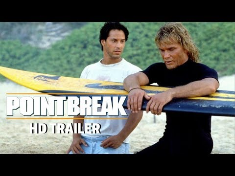 POINT BREAK (1991) Trailer #1 - Patrick Swayze - Keanu Reeves