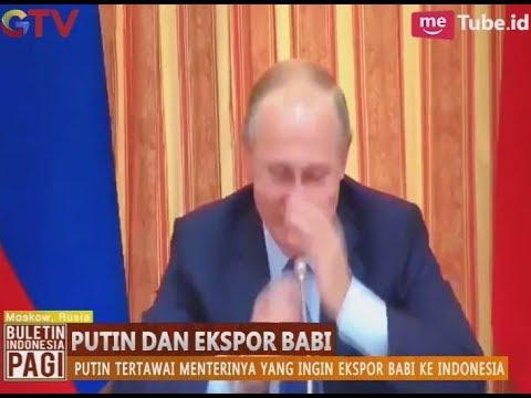 Menterinya Sebut Ingin Ekspor Babi ke Indonesia, Vladimir Putin Tertawa Terbahak-bahak - BIP 17/10