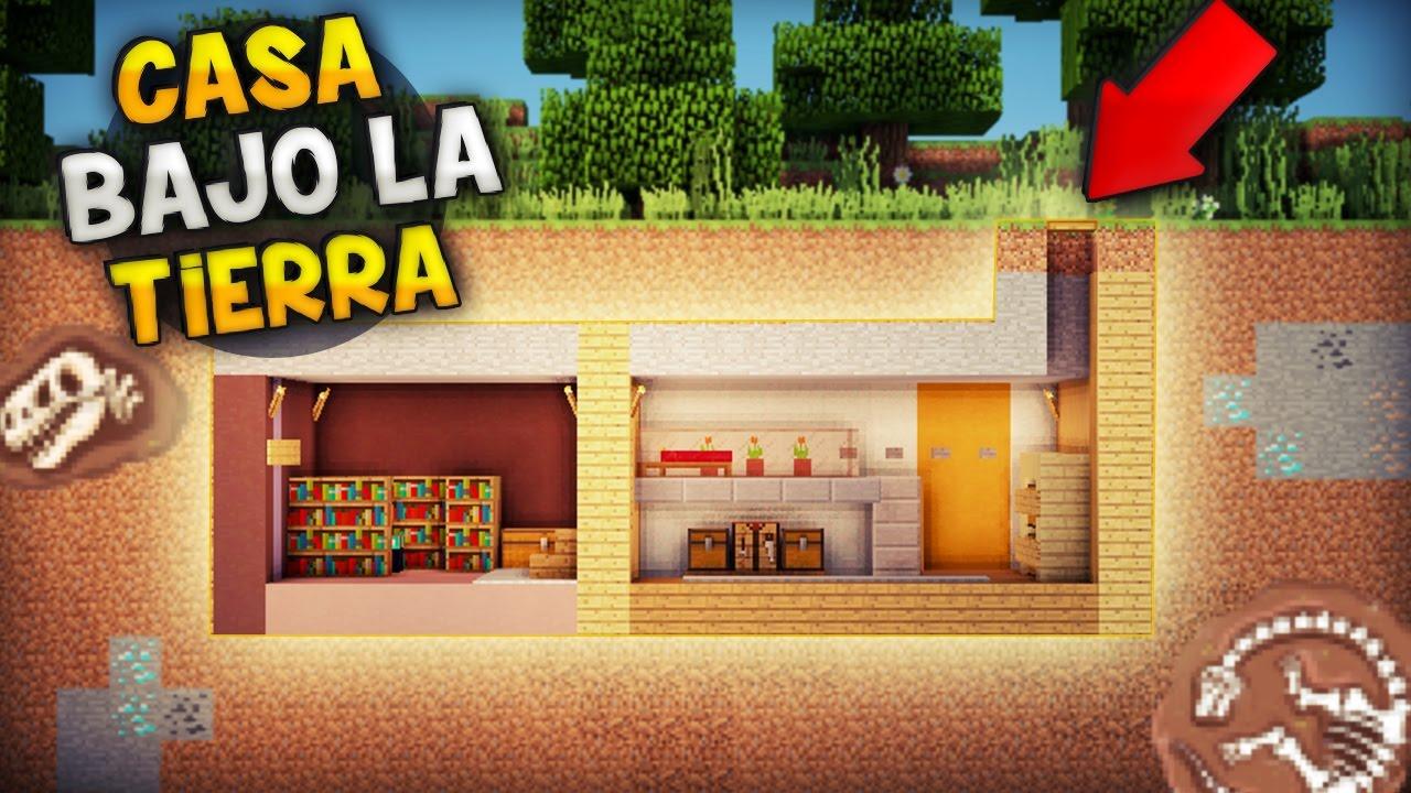 Minecraft como hacer una casa bajo la tierra subterr nea - Casas bajo tierra ...