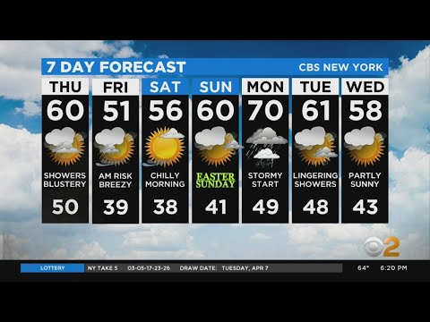 New York Weather: CBS2 4/8 Evening Forecast At 6PM