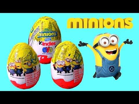 Minions Kinder Egg Surprise - Kinder Ovo Surpresa do Filme Minions