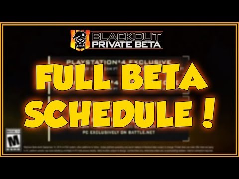 Treyarch has now CONFIRMED the BLACKOUT BETA END DATE! (BO4 Full Blackout Beta Schedule!)