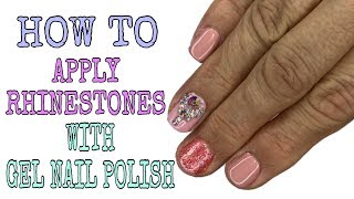 How to apply rhinestone with gel nail polish