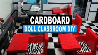 Doll Crafts | How To Make A Monster High Doll Classroom