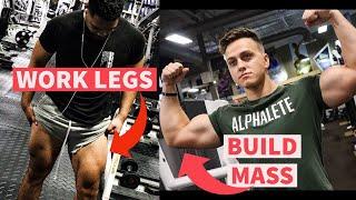 HOW WORKING LEGS BUILDS UPPER BODY | BEST LEG DAY TO BULD MASS