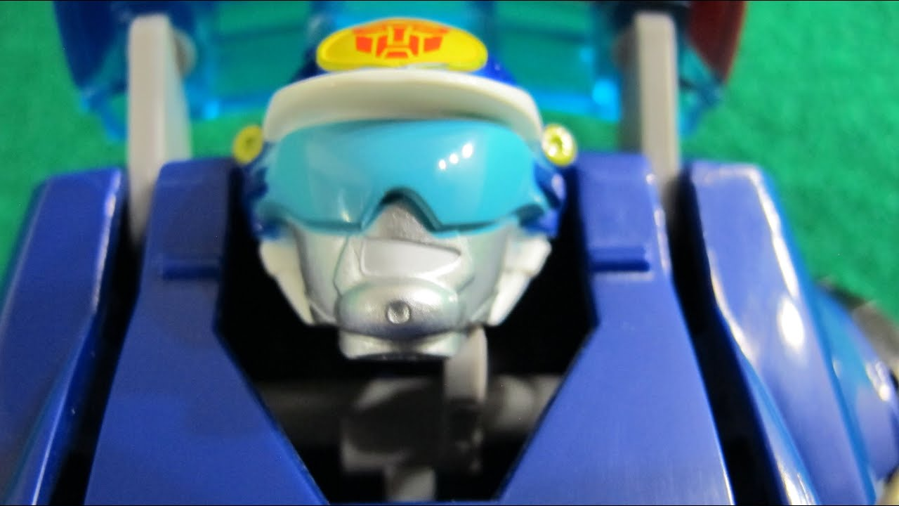 Unboxing chase the police robot transformer rescue bot - Playskool helmet heroes police officer ...