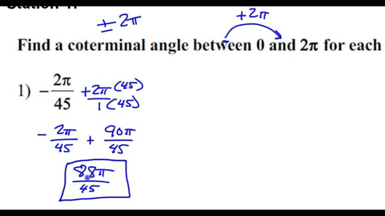 how to find coterminal angles between 0 and 360