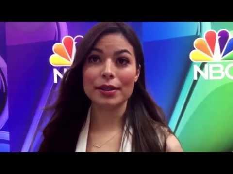 Miranda Cosgrove on social media at the 2015 NBC Entertainment Upfront