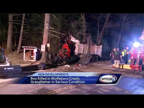 Boy killed in crash in Wolfeboro