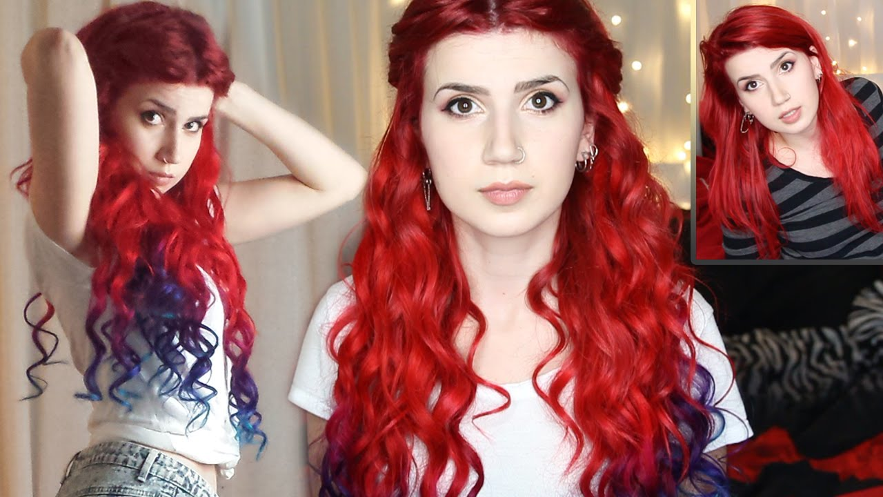 How To Ombredip Dye Extensions Goddess Curls Vpfashion Youtube