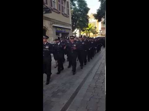 The Royal Gibraltar Police. Freedom of the City Parade