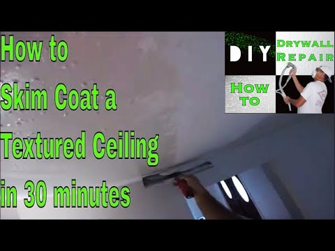 how-to-skim-coat-a-textured-drywall-ceiling-in-30-minutes-(2nd-coat)🔨-#skimcoating-tips-and-tricks