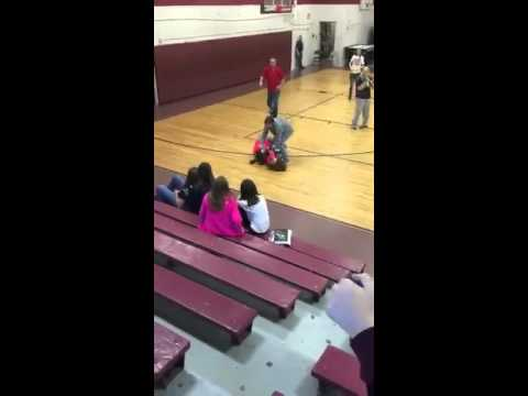 Destiny and Whitney fight at pineville middle school