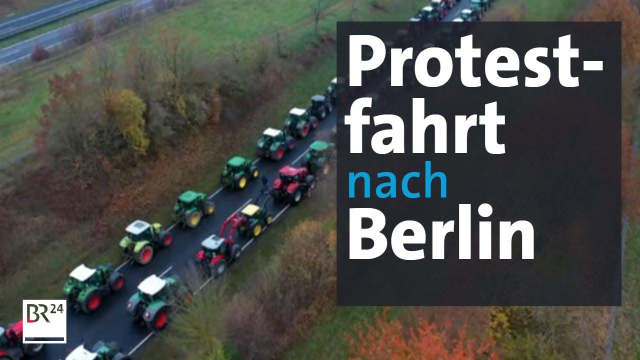 Download Bauernproteste: Mit dem Traktor zum Brandenburger Tor   Abendschau   BR24