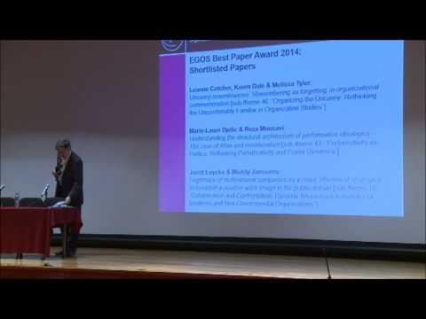 31st EGOS Colloquium - EGOS Awards Ceremony