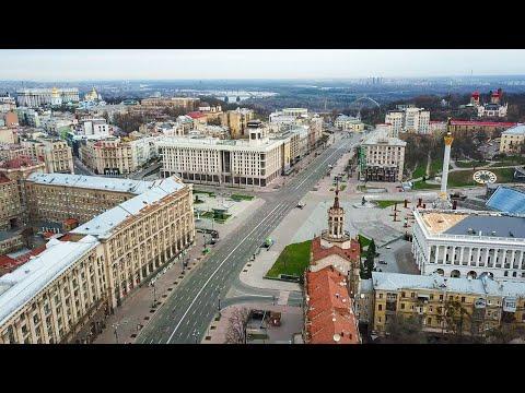 [4K] Карантинный Киев с высоты птичьего полета