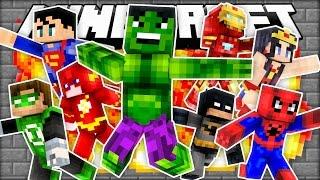 PRESTON BECOMES A SUPER HERO!   Minecraft Mod Showcase (Roleplay)