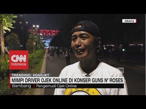 Mimpi Jadi Nyata, Driver Ojol di Konser Guns N' Roses Mp3