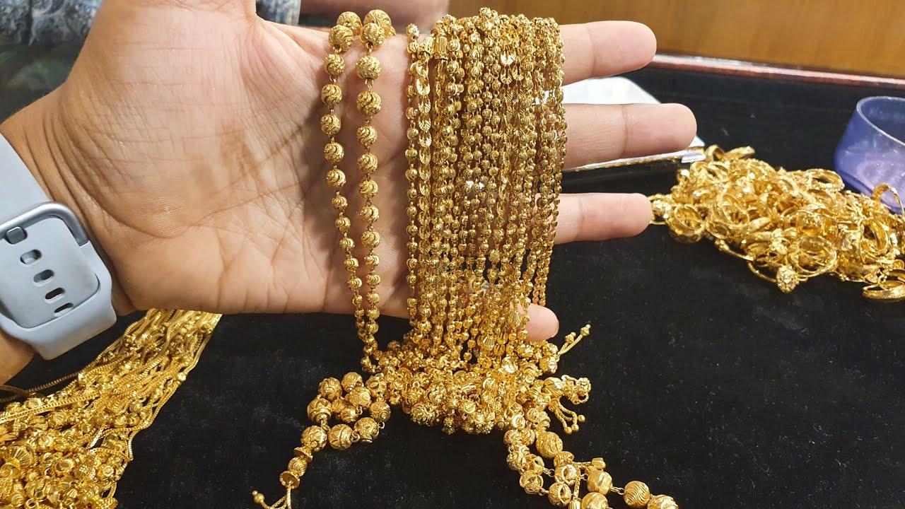 সোনার বড় বল চেইন এর দাম ও কোথায় পাবেন //gold long chain collection