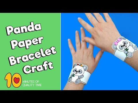 Panda Paper Bracelet - Animal Crafts for Kids