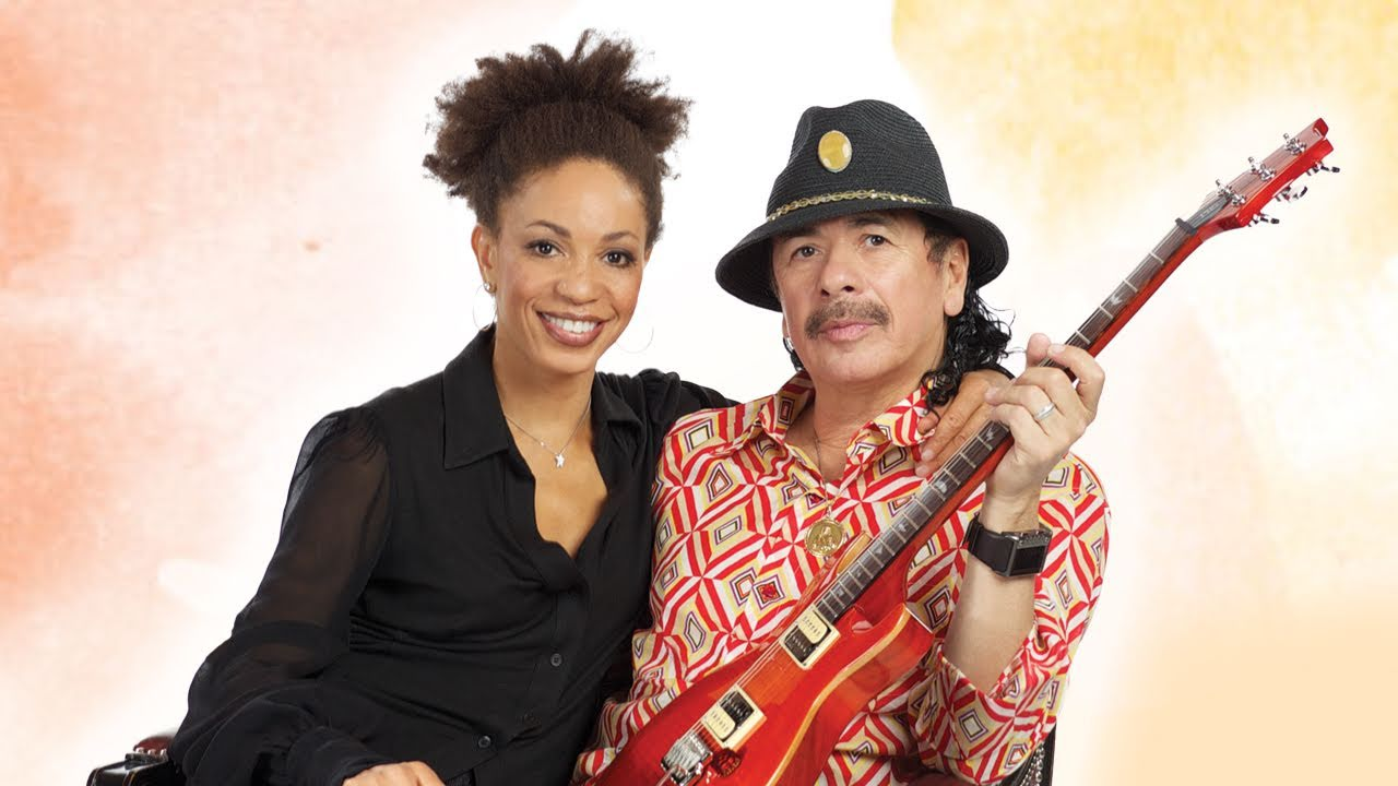 Carlos Santana with sweet, Wife Cindy Blackman