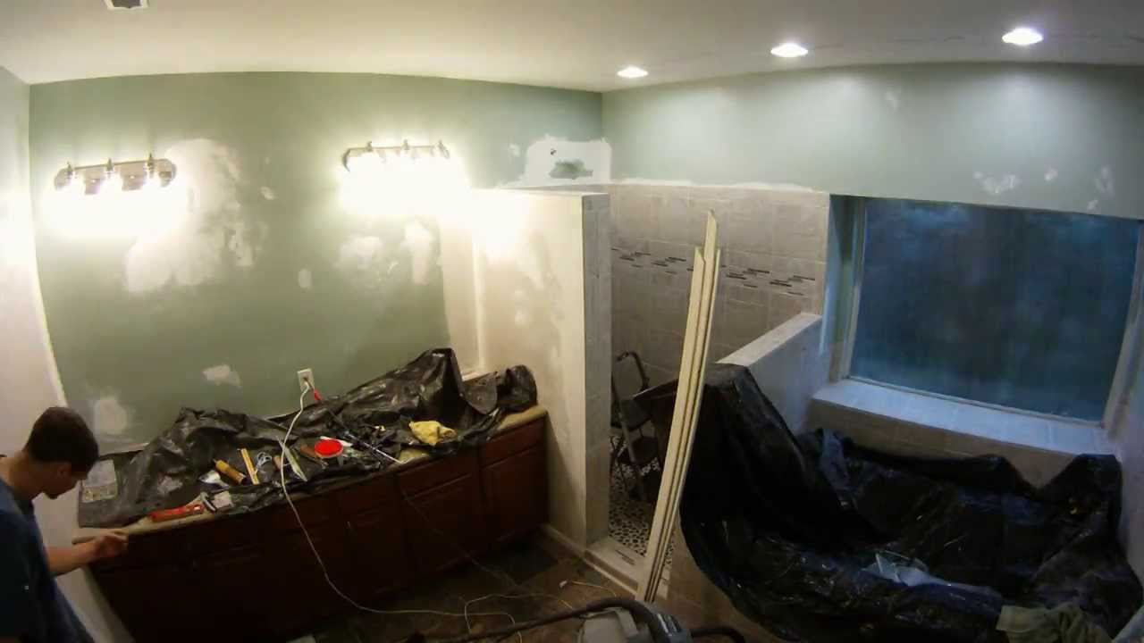 Bathroom Remodeling Time Lapse Gopro Hd Hero Youtube