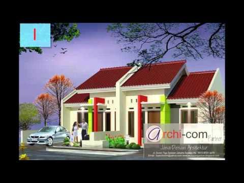 contoh desain rumah minimalis ukuran 8 x 12 - youtube