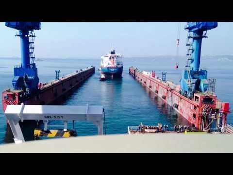 First docking at new 382 meters Besiktas floating dock