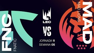 MAD LIONS VS FNATIC | LEC Spring split 2021 | JORNADA 11  | League of Legends