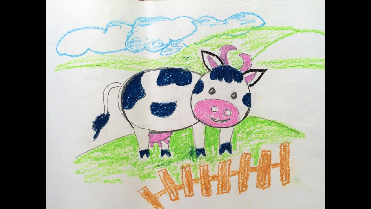 painting animals for kids how to draw cow for kids painting for kids art for kids - Drawing And Painting For Kids